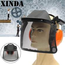 7cdde7e5a82 Xinda Safurance Safety Mask Helmet Protective Hard Hat Earmuffs Face Shield  Workplace Safety For Chainsaw Brush Cutter FHM8658