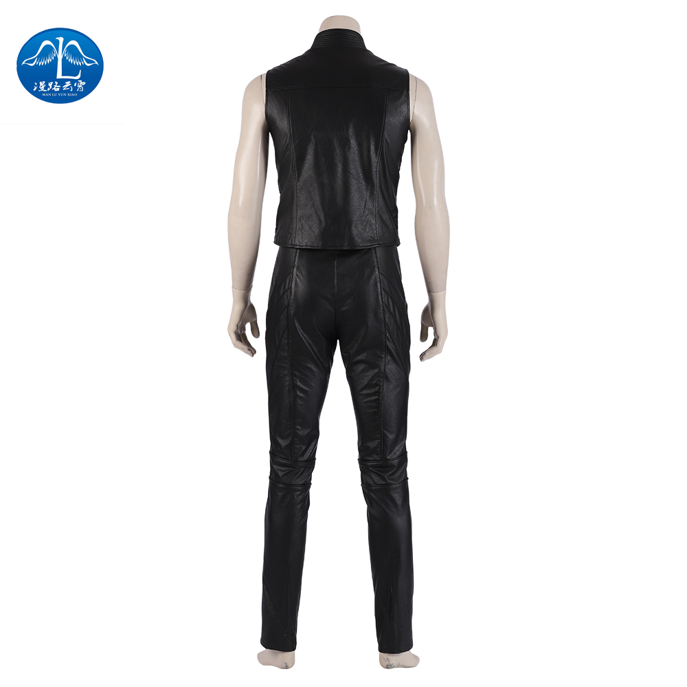Manluyunxiao Game DMC 5 Vergil Cosplay Vest Men Jackets Halloween Costume for Kids Adult Costume in Game Costumes from Novelty Special Use