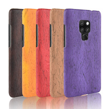For Huawei Mate 20 Case Hard PC+PU Leather Retro wood grain Phone Cover Wood for Mate20