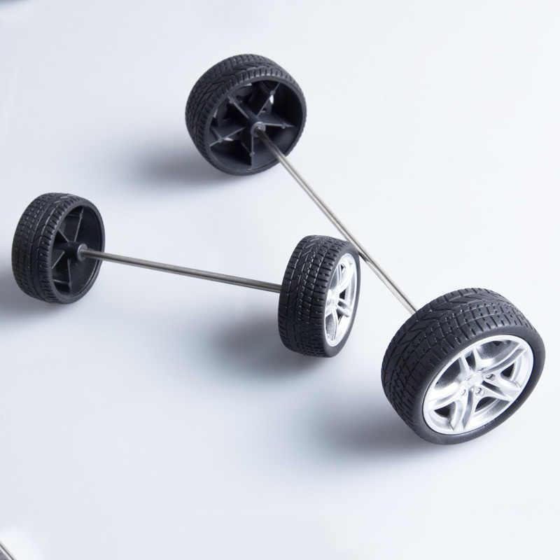 DIY Technologie, Der RC Spielzeug Auto Räder mit Achse Kit Färbte Gummi Reifen Durable Kunststoff Reifen für Verschiedene von Modell
