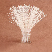 100 Bunchs White And Beige 4MM Artificial Pearls Bead Rope Wedding Party Table Centerpiece Decor