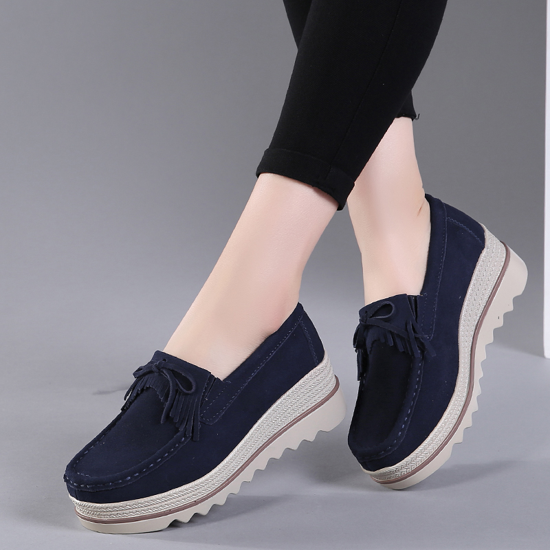 Women Flats  Sneakers Leather Suede