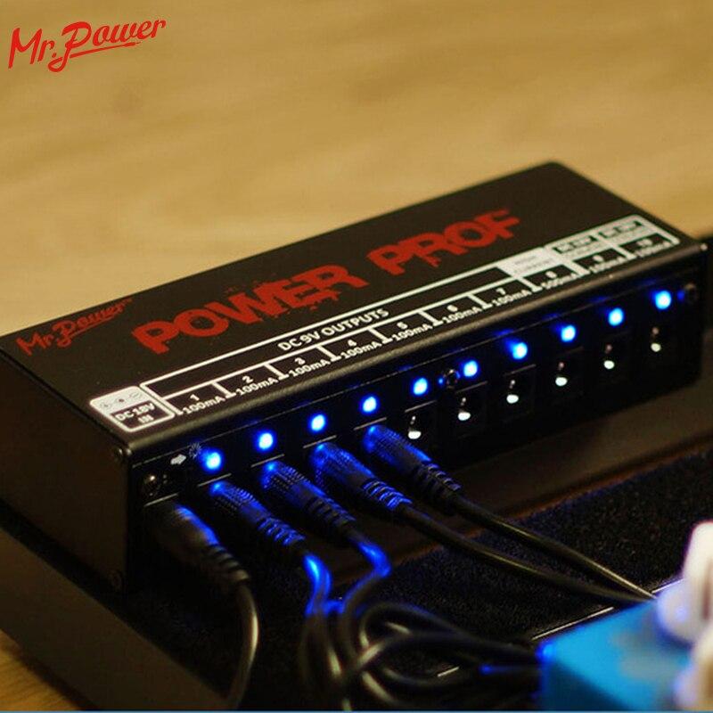 Gitarre Effekt Pedale Board Power Versorgung 10 Isolierte Ausgänge (8 Weg DC 9 v & 1 Weg DC 12 v & 1 Weg 18 v) spannung Schutz Neue