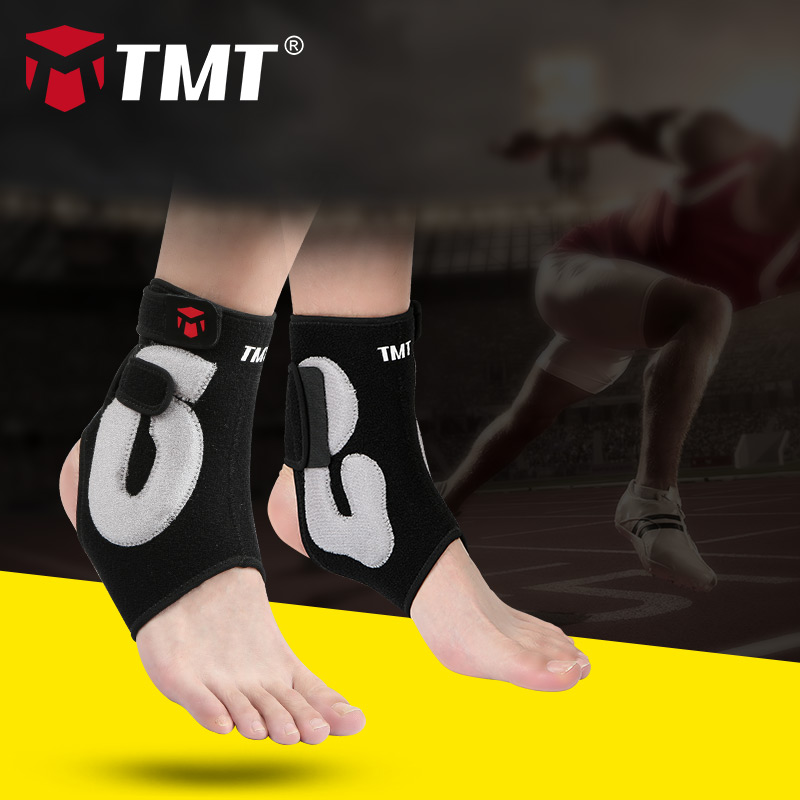 TMT Ankle Support Gym Running Protection Foot Bandage Elastic Ankle Brace Black Band Guard Sport Fitness Support in Ankle Support from Sports Entertainment