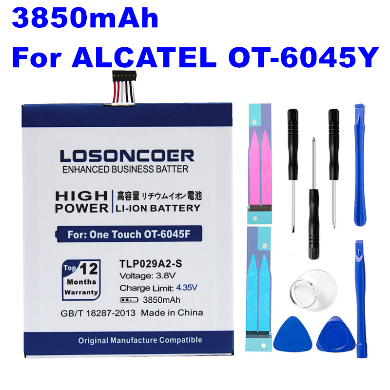 LOSONCOER Battery For Alcatel TLP029A2 Idol 3850mah 6045K One-Touch 3-I806 OT-5025/5025D