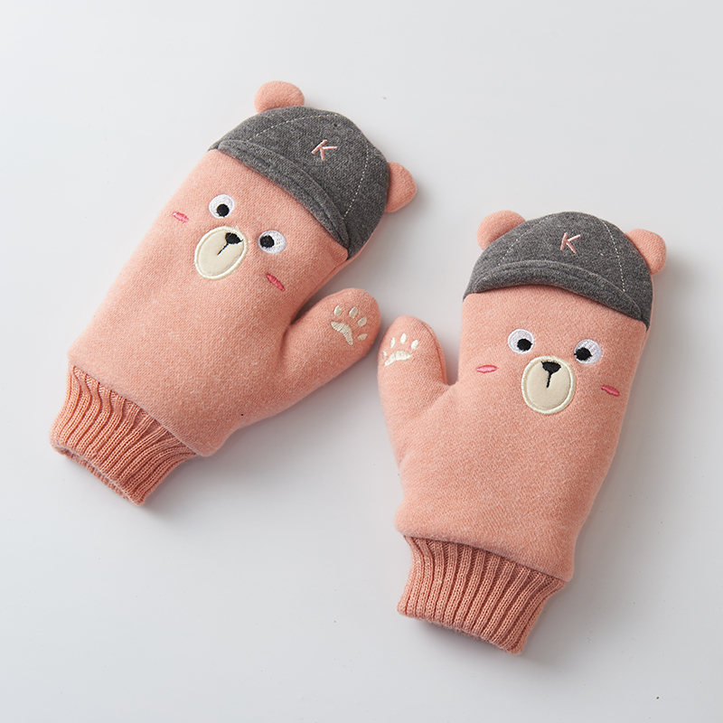 Winter Handschuhe Kinder Kleine Prinzessin Kinder Handschuhe Weibliche Winter Warm Plus Samt Verdickung Handgelenk Wärmer C1939 Handschuhe & Fäustlinge Jungen Kleidung