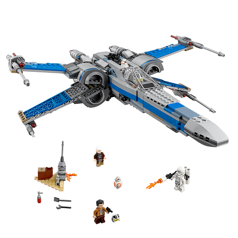 2 Type Star Wars First Order Poe's X-wing Fighter Assembled Toy Building Block Compatible Legoed Star-wars Toys Gifts