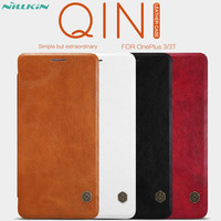 Case For OnePlus 3T 3 Nillkin Qin Series PU Leather Flip Case Cover For OnePlus 3T
