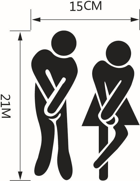 Aseos Bar Puerta Del Aseo Muestra Para Hombre Y Para Mujer De