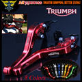For Triumph 675 STREET TRIPLE R/RX 2009 2010 2011 2012 2013 2014 2015 2016 Red CNC 2 finger Short Motorcycle Brake Clutch Levers