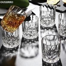 OUSSIRRO 6 шт./компл. с украшением в виде кристаллов виски Стекло чашки для дома пивной бар воды и вечерние Hotel свадебные Стекло es подарок посуда для напитков