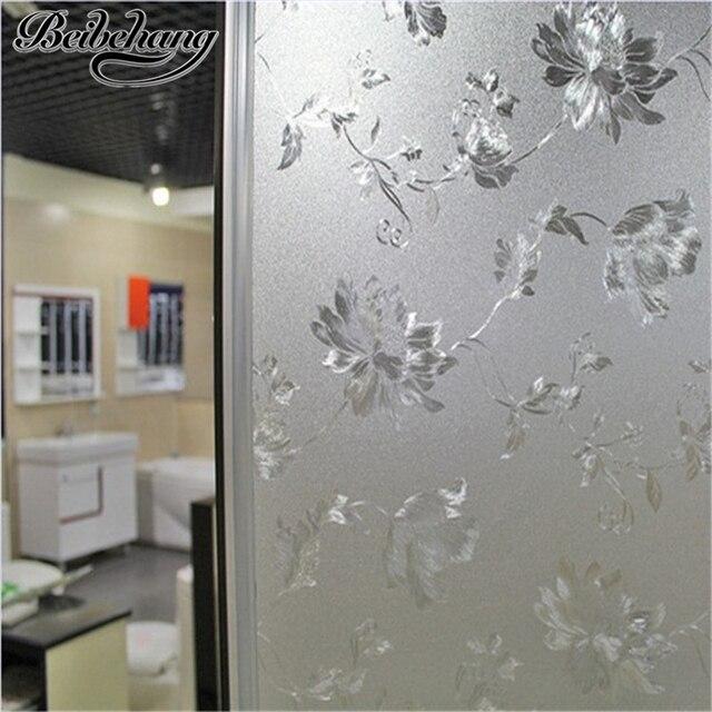 Beibehang wasser Hibiscus statische nicht scheuernden milchglas film  pastoralen badezimmer-fenster transparent opaque zellophan tapete
