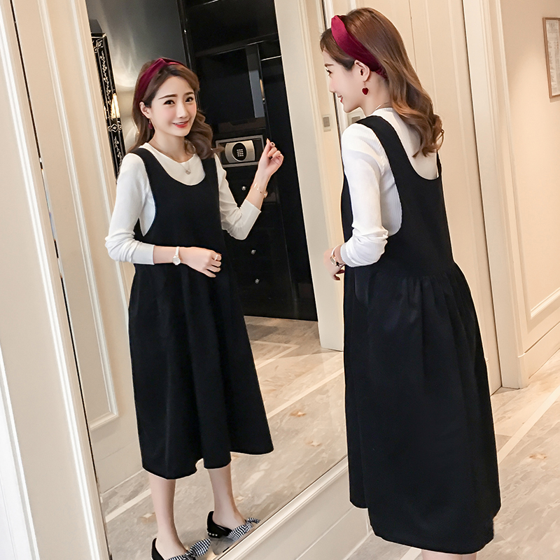Novelty Maternity Clothes Pregnancy Dress Autumn Spring Loose Pregnancy Clothing Of Pregnant Women Long Sleeve Vestidos