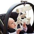Conejo bebé cama colgante asiento de seguridad juguete de felpa campana de mano multifuncional cochecito de juguete móvil regalos WJ141