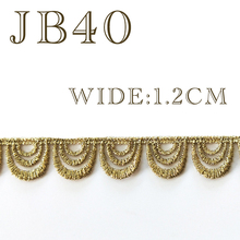 1.2CM WIDE water-soluble Gold/Black COLOR lace embroidery DIY wedding dress skirt, headgear, garment accessories 1yard=91cm JB40