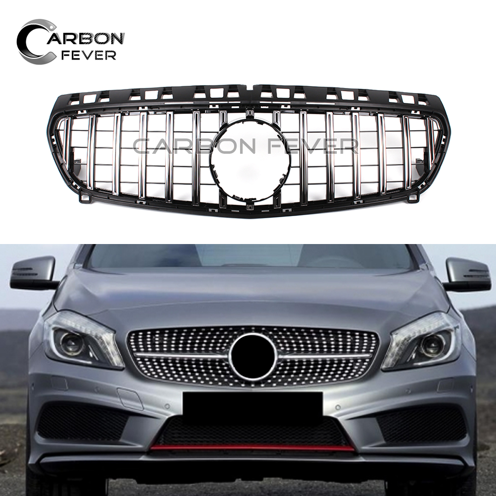 Racing Grills For Mercedes A Class W176 GT 2013 2015 Pre LCL Car Front Grille