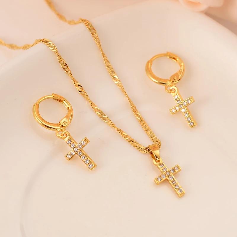 Cross Pendant /& Earring Gift Set