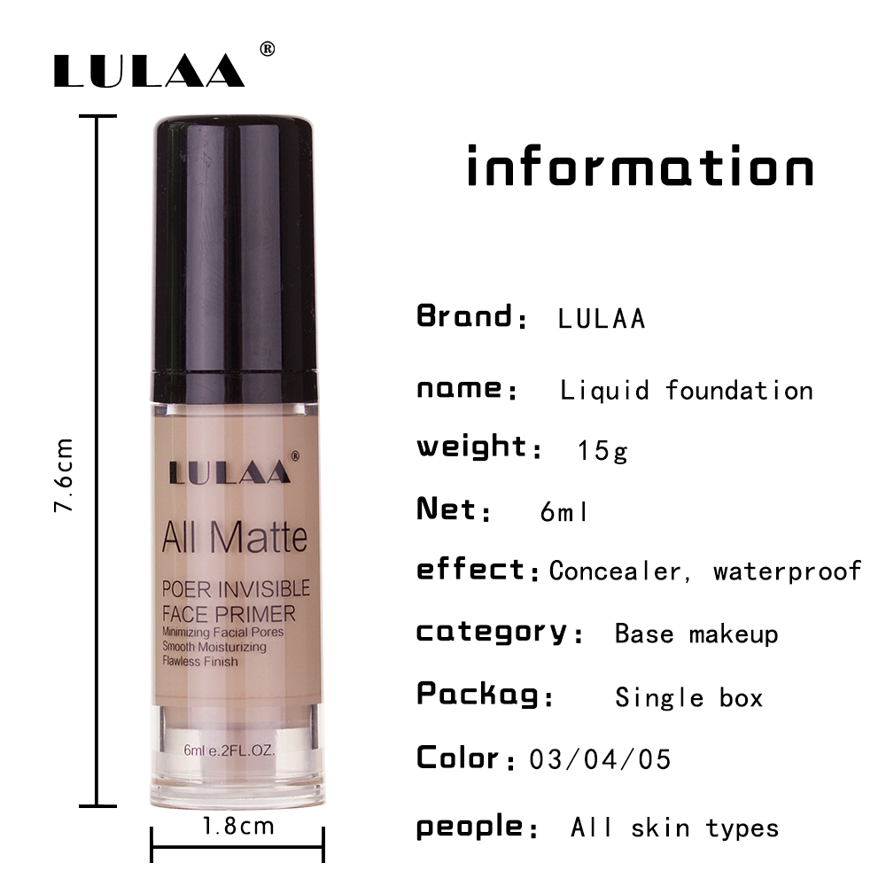 Liquid foundation concealer multi color bb cream bb glow concealer cream even skin moisturizing lasting makeup liquid foundation in BB CC Creams from Beauty Health