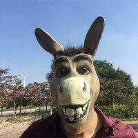 大人のフルフェイスラテックスハロウィンパーティー馬ヘッドマスクコスプレマスクハロウィンパーティー用品お祝い動物衣装ボールマス