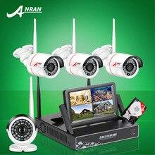 ANRAN Новое Объявление Подключи и Играй Беспроводной Системы Безопасности 4CH 7 «ЖК-NVR Комплект 1 ТБ HDD 720 P HD Открытый IP WI-FI Камеры Наблюдения