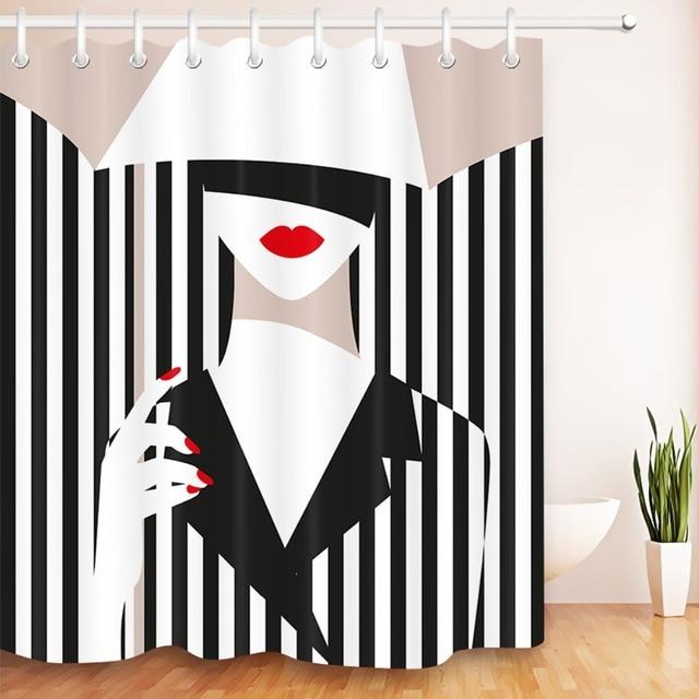 LB Waterproof New Fashion Girl Umbrella Black And White Stripes
