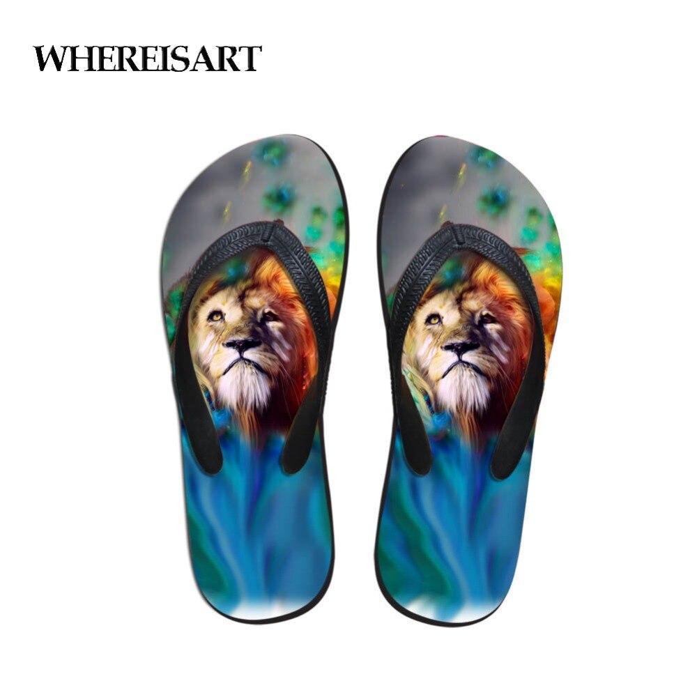 Herrenschuhe Angemessen Whereisart Strand Schuhe Flip Flop In Männer Hausschuhe Tiere Tiger-print Schuhe Männer Außerhalb Flip-flops Gummi Kühle Home Hausschuhe Flip-flops