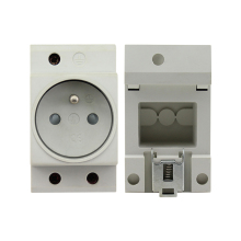 French Standard Rail Mount AC Power Modular Socket 16A 250V AC Socket Connector цены онлайн