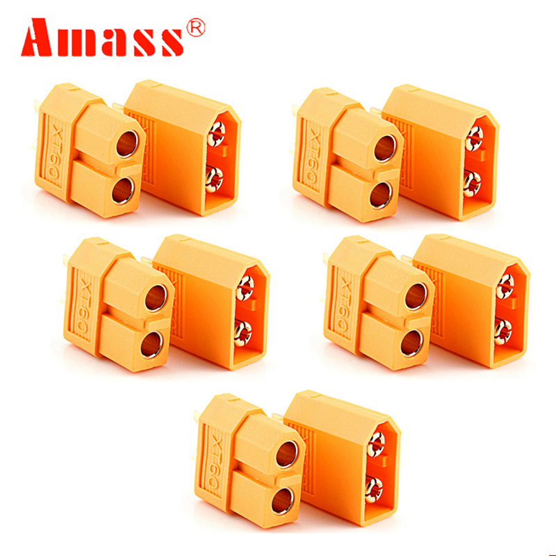 AMASS XT60 XT-60  Connector 10pcs Male Female Bullet Connectors Plugs For RC Lipo Battery Wholesale