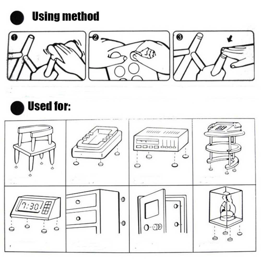 20 шт 18*15*5/14*11*9/11*9*6 мм подставки для ножек стула черные резиновые шкафы мебельные ножки колодки плитка защита для пола