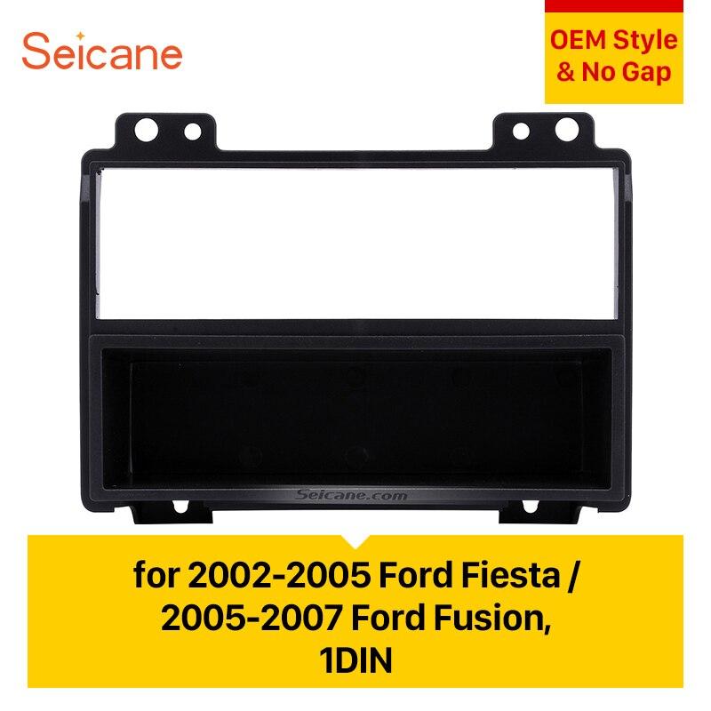 2002-2005のためのSeicane 1の喧騒のカーラジオの看板Ford Fiesta 2005-2007のフォードフュージョンステレオダッシュボードフェースプレートフレームマウントキットベゼルボトムビジュアルデザインdes ababo del agua