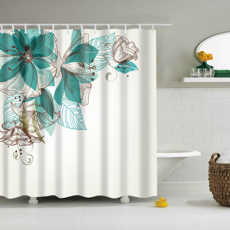 Shower Curtains Home Garden Stylish Waterproof Bathroom