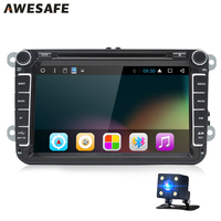 AWESAFE Android 2Din 8 Inch Car DVD Player For VW Volkswagen POLO PASSAT Golf TOURAN Quad