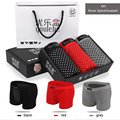 Fashion 2016 Summer 3piece/lot Man Magnet Underwear Breathable Health physiotherapy Soft elastic Men's gift boxes Boxer Shorts