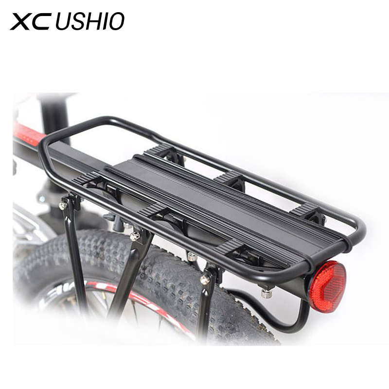 Universal Aluminum Alloy 90kg Max Loading Capacity Bicycle Bike Cycling Rear Seat Luggage Rack Mountain Bike Bicycle Accessories universal bike bicycle motorcycle helmet mount accessories