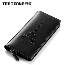 Brand Teemzone 2017 New Women Wallet High Quality Genuine Leather Womens Wallets And Purses Ladies Wallet Fashion Clutch Bags