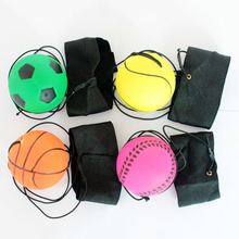 2016 New 60mm Bouncy Wrist Band Ball Elastic Rubber Ball Toy For Wrist Exercise Board Game Party Fun Random Color