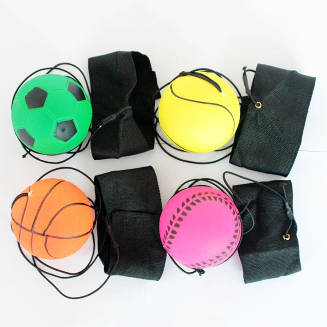 2017 neue 60mm federnd handgelenk band ball elastische gummi ball spielzeug für handgelenk übung brettspiel party spaß zufällige farbe