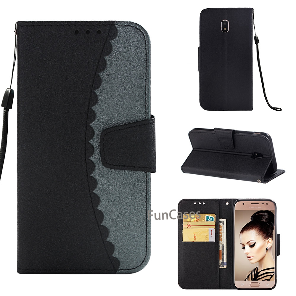 Luxury 3D Folower Leather Case For Samsung Galaxy <font><b>J3</b></font> <font><b>2017</b></font> Eurasia Edition Galaxy J330 <font><b>J3</b></font> Pro Flip Wallet with card Cover Funda image