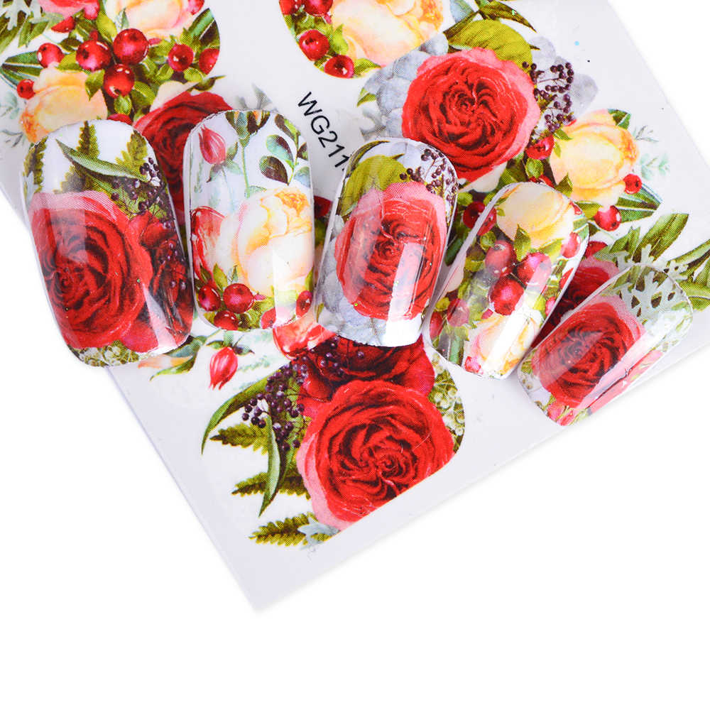 1 Sheets Beautiful Romantic Sticker Red Skirt Girl Nail Art Designs Manicure Water Transfer Decals Tips Manicure CHSTZ511-512