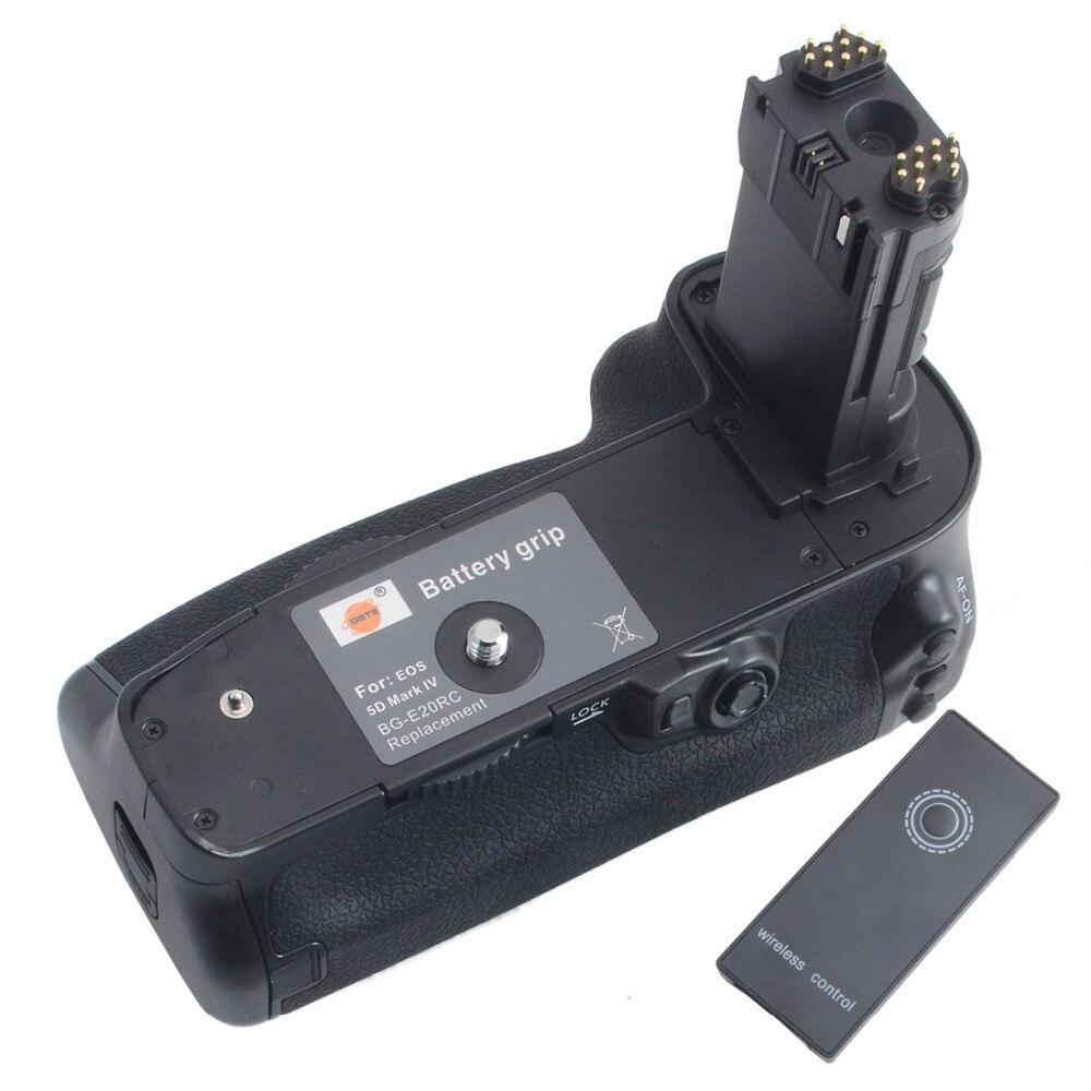 DSTE BG-E20H Battery Grip for CANON EOS 5D Mark IV 5DIV 5D4 with remote control DSLR Camera ruibo bg e9 battery grip for canon eos 60d black