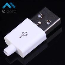 50 шт. белый мужской разъем USB Adapter Kit сварки Тип 5 P Зарядное устройство USB разъем DIY Угловые 90 градусов 5pin разъем зарядки