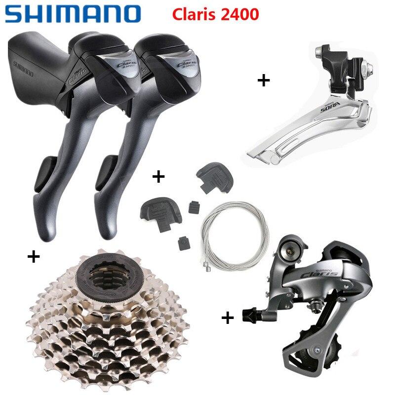 Shimano Claris 2400 2x8 Speed Road Bike STI Shifter Derailleur Front Derailleur Rear Derailleur Shifters HG50