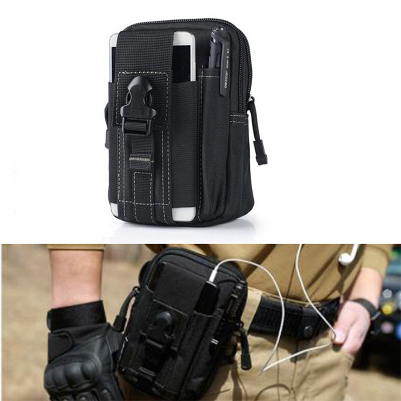 Tactical Molle väska Pocket Belt Waist Packs Väska Pocket Military Waist Fanny Pack Ficka till iPhone 6 6s 5s för Samsung Galaxy S6
