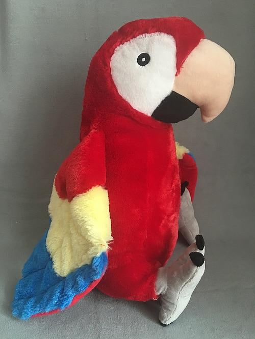 Big Cute Stuff Simulation Bird Macaw Parrot Plush Toy Doll Children Baby Kids Birthday Gift Home Decoration 46cm
