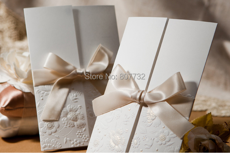 High Quality Wedding Invitations Cards 170*115mm, Amazing Embossment  Design, Gold Bronzing, Include Envelope, Inner Paper, Seals