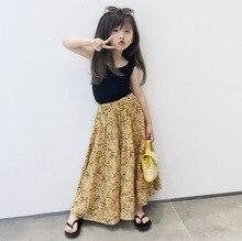 Childrens wear girls summer  Korean the new girl children floral retro childrens skirt skirts