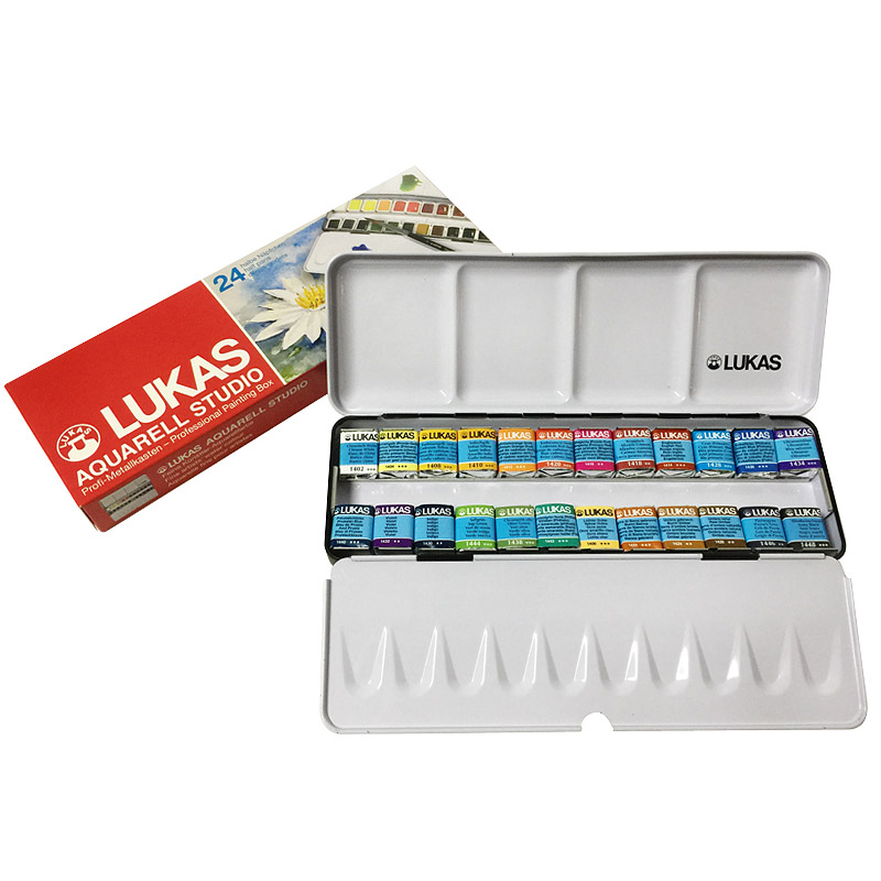 Paket Importiert Original Deutschland 24 Farbe Solide Aquarell Farben Transparent Aquarell Skizzieren Tragbare