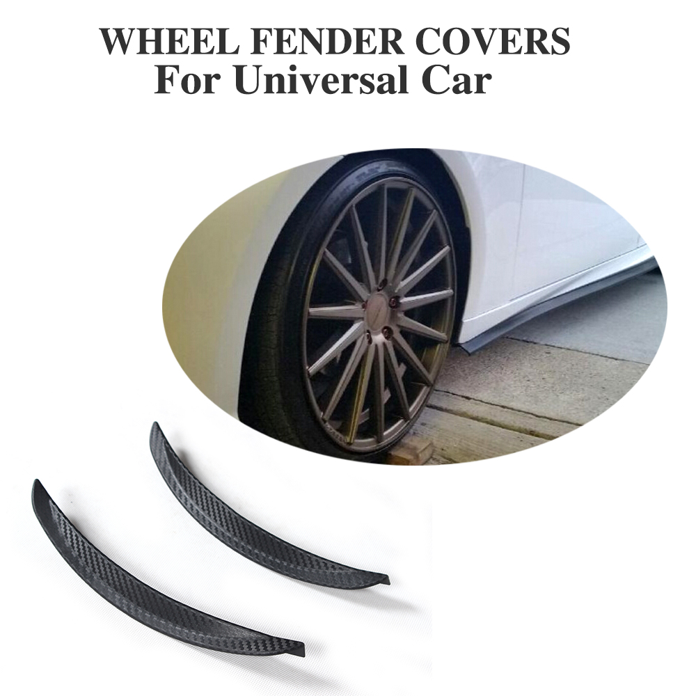 9.8 inch 2PCS/SET Universal Soft rubber Auto accessories Fender Flare Car Wheel Modling Trims For BMW G30 VW Golf Audi A3 Ford hd w82 replacement universal rubber plastic wheel for 1 8 truck black white 2 pcs