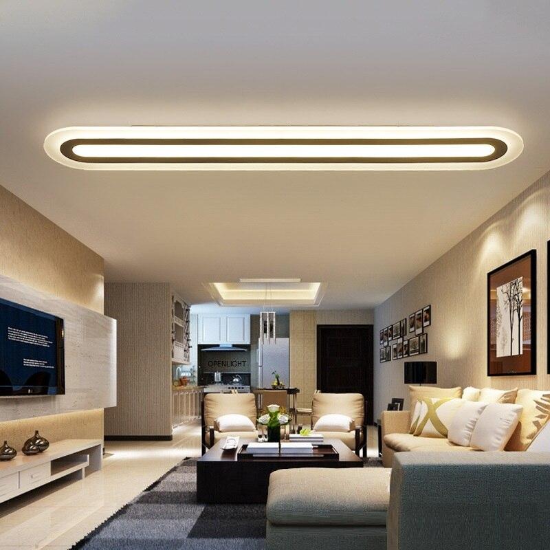 Şerit Akrilik LED tavan ışık Ev Oturma Odası Yatak Odası Çalışma Odası Tavan lambası Ofis Ticari Aydınlatma armatürü