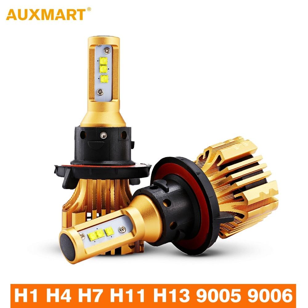 Auxmart H4 H7 H11 9005 9006 H13 H1 LED Headlight Car Light Bulbs 6500K 12V 24V LED Auto Headlamp Fog Light 6500K 12v led light auto headlamp h1 h3 h7 9005 9004 9007 h4 h15 car led headlight bulb 30w high single dual beam white light